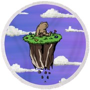 Bear Rock Round Beach Towel