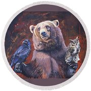 Bear The Arbitrator Round Beach Towel