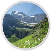 Beargrass - Grinnell Glacier Trail - Glacier National Park Round Beach Towel