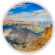 Beartooth Highway Scenic View Round Beach Towel by John M Bailey