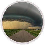Round Beach Towel featuring the photograph Beast by Aaron J Groen