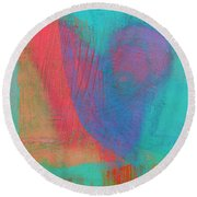 Beating Heart Round Beach Towel by Susan Stone