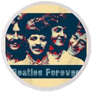 Beatles Forever Round Beach Towel