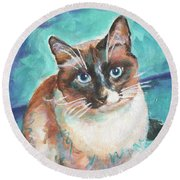 Beau Kitty Round Beach Towel