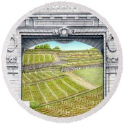 Beaune France Round Beach Towel