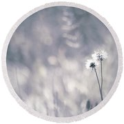 Round Beach Towel featuring the photograph Beaute Des Champs - 0101 by Variance Collections