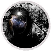 Beauties Are Things That Are Lit Inside Us Round Beach Towel by Paulo Zerbato
