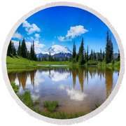 Round Beach Towel featuring the photograph Beautiful Afternoon  by Lynn Hopwood