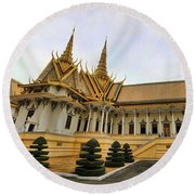 Beautiful Architecture Royal Palace  Round Beach Towel