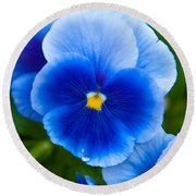 Beautiful Blues Round Beach Towel