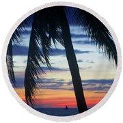 Beautiful Boracay Sunset Round Beach Towel