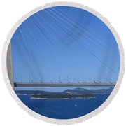 Beautiful Bridge In Dubrovnick Round Beach Towel