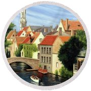 Beautiful Bruges Round Beach Towel