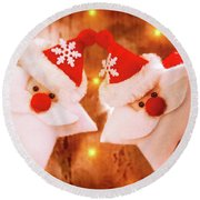 Beautiful Christmas Decoration Round Beach Towel