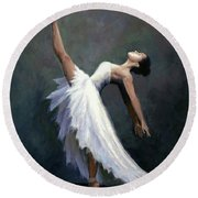 Beautiful Dancer Round Beach Towel by Janet King