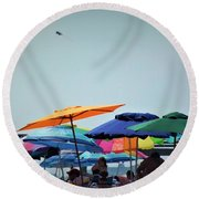 Beautiful Day For The Beach Round Beach Towel