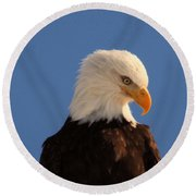 Round Beach Towel featuring the photograph Beautiful Eagle by Jeff Swan