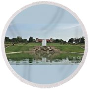 Beautiful Forest Park Round Beach Towel