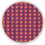 Round Beach Towel featuring the digital art Beautiful Graphic Fineart Pattern Holidays Festivals Birthday Tshirts Pillows Towels Curtains Gifts by Navin Joshi