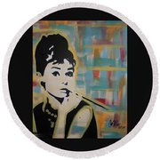 Beautiful Hepburn Round Beach Towel
