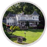 Beautiful Home On Lake Hopatcong Round Beach Towel