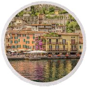 Round Beach Towel featuring the photograph Beautiful Italy by Roy McPeak