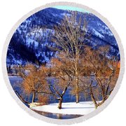 Round Beach Towel featuring the photograph Beautiful Kaloya Park by Will Borden