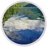 Round Beach Towel featuring the photograph Beautiful Lake Crescent Washington by Dan Sproul