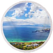 Beautiful Landscape Panorama Round Beach Towel