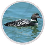 Beautiful Loon Round Beach Towel