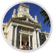 Beautiful Malaga City Hall Round Beach Towel