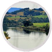Beautiful Manning River 06663. Round Beach Towel