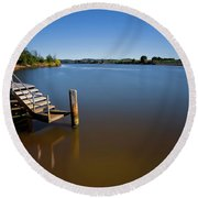 Round Beach Towel featuring the photograph Beautiful Manning River 666 by Kevin Chippindall