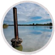 Beautiful Manning Waters 6677 Round Beach Towel by Kevin Chippindall