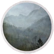 Beautiful Mist Round Beach Towel