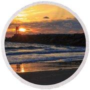 Beautiful Morning Round Beach Towel