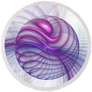Beautiful Movements Fractal Art Round Beach Towel