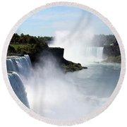 Beautiful Niagara Falls Round Beach Towel