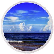 Round Beach Towel featuring the photograph Beautiful Ocean View by Gary Wonning