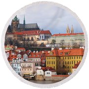 Beautiful Old Prague Round Beach Towel