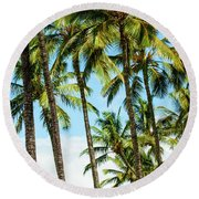 Round Beach Towel featuring the photograph Beautiful Palms Of Maui 16 by Micah May