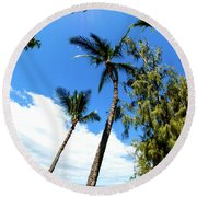 Round Beach Towel featuring the photograph Beautiful Palms Of Maui 17 by Micah May