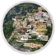 Beautiful Positano Round Beach Towel
