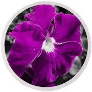 Beautiful Purple Round Beach Towel