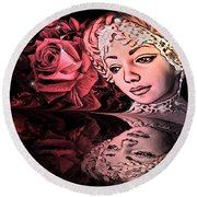 Beautiful Reflections Round Beach Towel