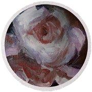 Beautiful Rose Beautiful Story Round Beach Towel by Michele Carter