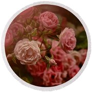 Round Beach Towel featuring the photograph Beautiful Roses 2016 No. 2 by Richard Cummings