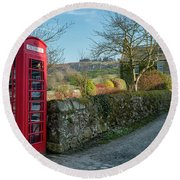 Round Beach Towel featuring the photograph Beautiful Rural Scotland by Jeremy Lavender Photography