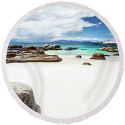 Beautiful South African Beach Landscape Round Beach Towel
