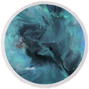 Beautiful Storm Round Beach Towel